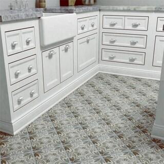 SomerTile 7.75x7.75-inch Gavras Cendra D cor Dahlia Ceramic Floor and Wall Tile (Case of 25)