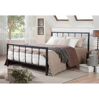 Amy Modern and Contemporary Antique Dark Bronze Full/Queen Size Iron Metal Platform Bed