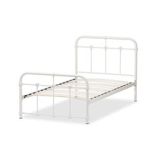 Havenside Home Belvon Vintage Industrial Metal Platform Bed (4 options available)