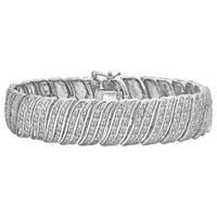 Divina Silver Overlay 2ct TDW Diamond Bracelet
