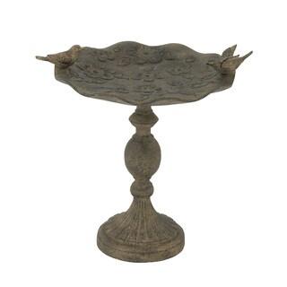 21-inch Brown Metal Birdfeeder