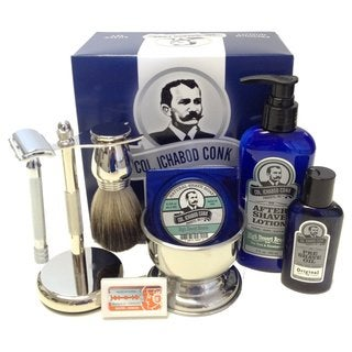 Colonel Conk Complete 8-piece Shave Kit with Gift Box