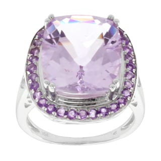 Pearlz Ocean Sterling Silver Rose de France Amethyst Fashion Ring
