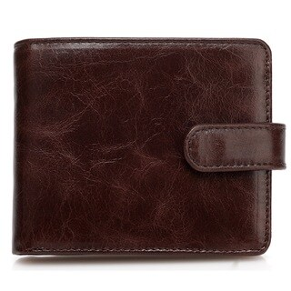 Vicenzo Leather's Pelotas Classic Distressed Leather Trifold Men's Wallet - Medium