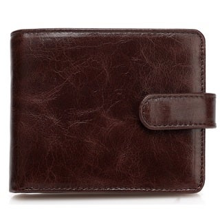 Vicenzo Leather's Pelotas Classic Distressed Leather Trifold Men's Wallet