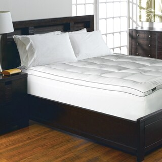 Elle 1200 Thread Count Cotton-rich Solid Mattress Pad - White