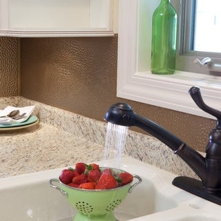 Fasade Hammered in Argent Bronze Backsplash 18-square-foot Kit