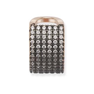 La Preciosa Sterling Silver Cubic Zirconia Single Ear Cuff
