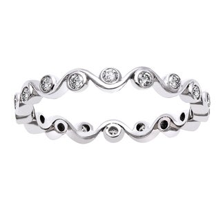 Beverly Hills Charm 10k White Gold 1/3ct TDW Diamond Eternity Band