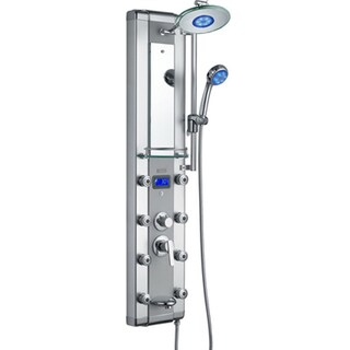 AKDY 51-inch Aluminum Shower Panel with Tower Massage Spa System Kits LED Rainfall Showerhead and Shower Wand|https://ak1.ostkcdn.com/images/products/10333424/P17443826.jpg?_ostk_perf_=percv&impolicy=medium