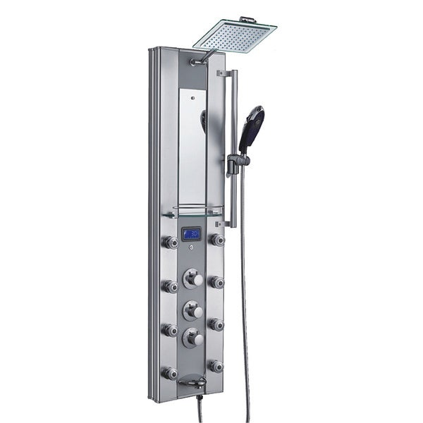 Shop AKDY 51-inch Aluminum Shower Panel with Tower Massage Spa ...