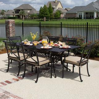 Carrolton 6-Person Cast Aluminum Patio Dining Set With Rectangular Table