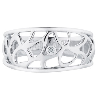 Boston Bay Diamonds Sterling Silver Diamond Accent Labrynth Fashion Ring