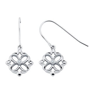 Boston Bay Diamonds Sterling Silver Diamond Accent Fashion Earrings