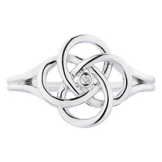 Boston Bay Diamonds Sterling Silver Diamond Accent Linked Circle Ring