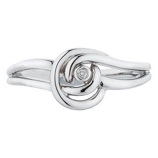 Boston Bay Diamonds Sterling Silver Diamond Accent Diamonds Knot Fashion Ring