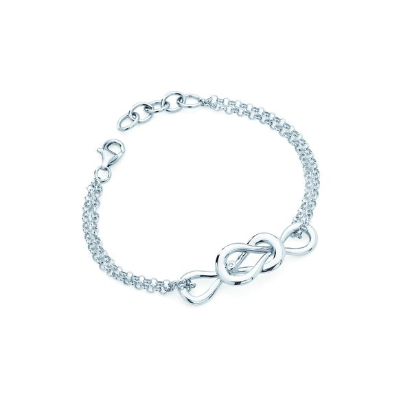 .925 Sterling Silver Diamond Accent Forever Infinity Charm Bracelet. Opens flyout.