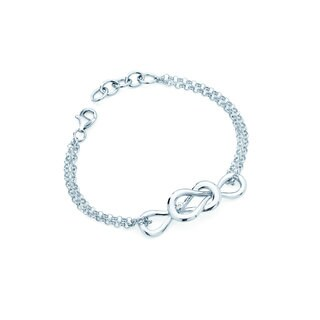 Boston Bay Diamonds 925 Sterling Silver .01ct TDW Diamond Accent Inifinity Fashion Bracelet