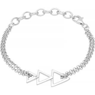 Boston Bay Diamonds 925 Sterling Silver .01ct TDW Diamond Accent Triangle Fashion Bracelet|https://ak1.ostkcdn.com/images/products/10333495/P17443882.jpg?impolicy=medium