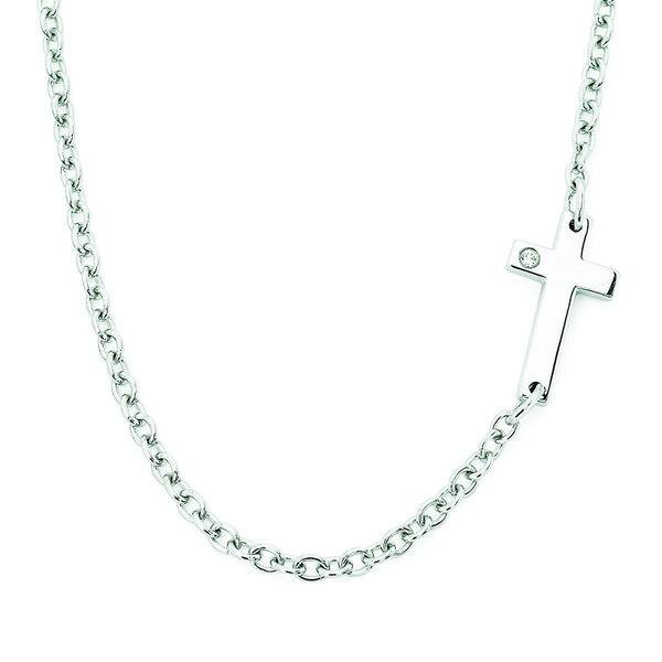 f1181aa47203a Shop Boston Bay Diamonds 925 Sterling Silver .01ct TDW Diamond ...