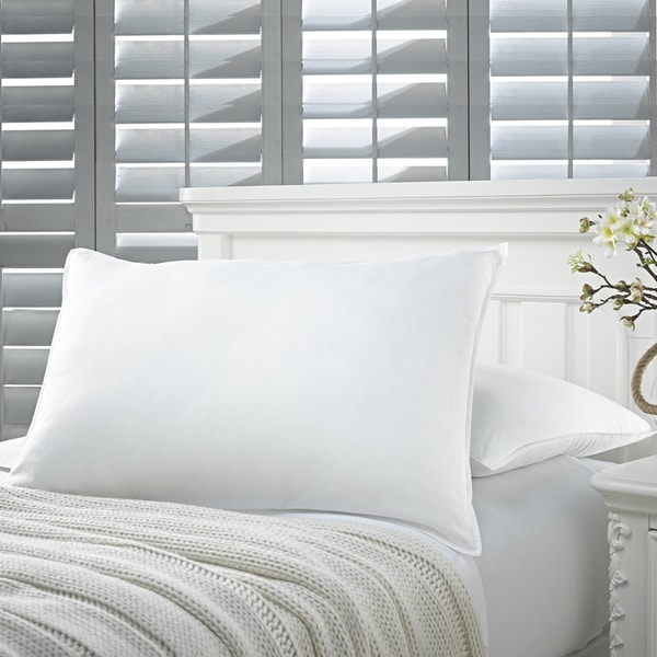 Amrapur Overseas White Down Alternative Soft Jumbo Size Bed Pillows (Set of 2)