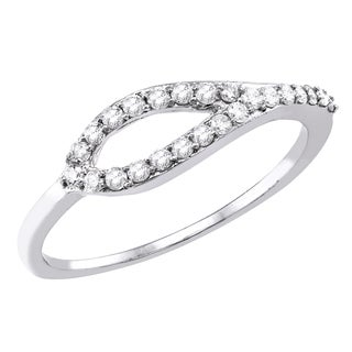 10k Gold 1/5ct TDW Diamond Stackable Band Ring