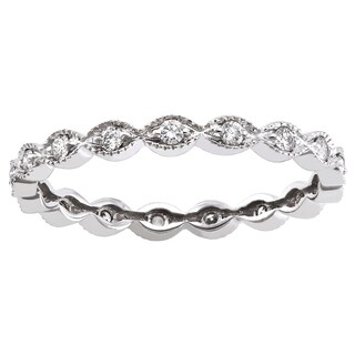 10K White Gold 1/4ct TDW Diamond Vintage Inspired Eternity Band Ring - White H-I (More options available)