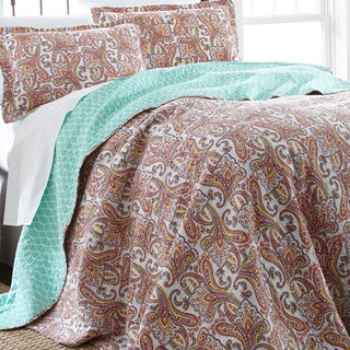 Amraupur Overseas Arsenia 100-percent Cotton 3-piece Reversible Quilt Set