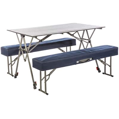 Kamp-Rite Kwik Set Table with Benches - 50 lb capacity