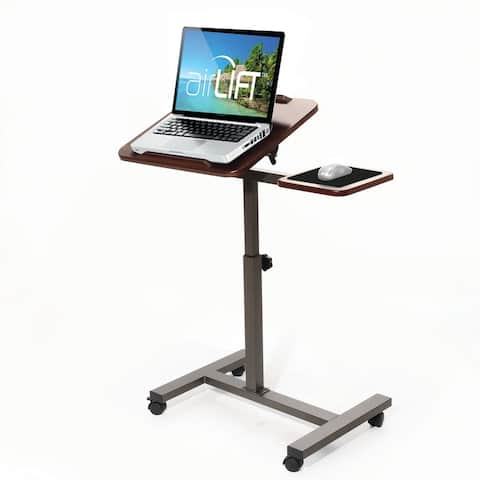AIRLIFT Tilting Laptop Computer Desk Cart With Mouse Pad Table Adjustable Height Range 27.5 in to 40 in