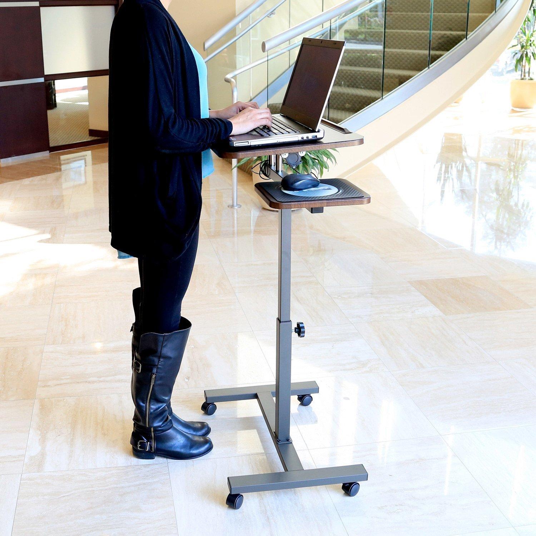 Seville Mobile Laptop Desk with Side Table (Mobile Laptop...