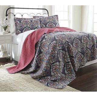 Amraupur Overseas Sanya 100-percent Cotton 3-piece Reversible Quilt Set