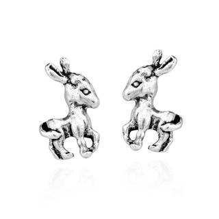 Lovely Baby Donkey .925 Sterling Silver Stud Earrings (Thailand)