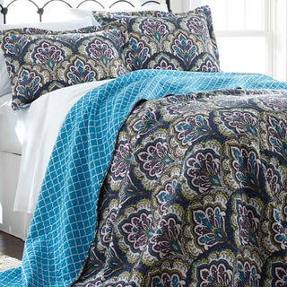Amraupur Overseas Carly 100-percent Cotton 3-piece Reversible Quilt Set