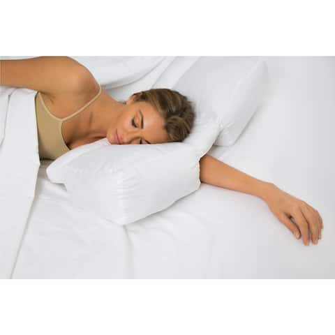 Better Sleep Stomach and Side Sleeper Gel Fiber Pillow - White