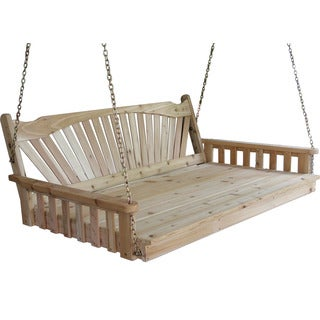 Pine Fanback English Swing Bed