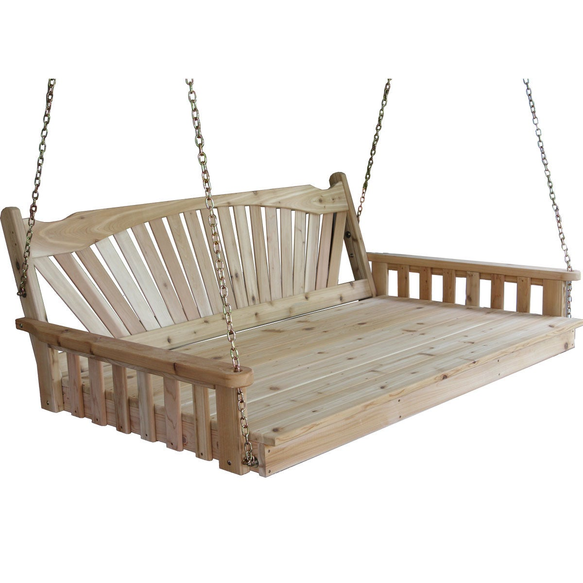 Pine Fanback English Swing Bed Overstock 10333672