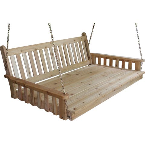 Pine Traditional English Swing Bed