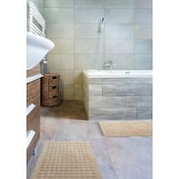 kathy ireland Plush Solutions Geometric Bath Rug by Nourison (1'9 x 2'10)