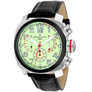 Christian Van Sant Men's CV3AU7 Grand Python Round Black Leather Strap Watch|https://ak1.ostkcdn.com/images/products/10333698/P17444050.jpg?impolicy=medium