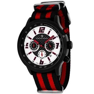 Christian Van Sant Men's CV3122NR Speedway Round Two-tone Nylon Strap Watch