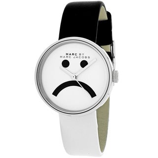 Marc Jacobs Women's MBM1372 Peggy Round Black and White Leather Strap Watch