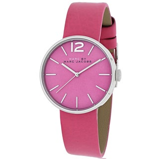 Marc Jacobs Women's MBM1369 Peggy Round Pink Leather Strap Watch
