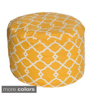 Geometric Outdoor Beanbag Pouf