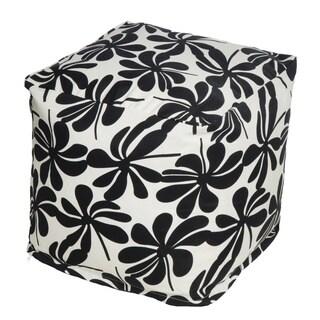 Floral Indoor/Outdoor Beanbag Cube