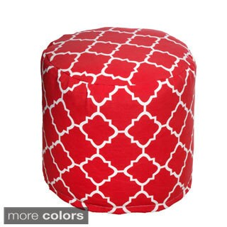 Geometric Pattern Outdoor Beanbag Cylinder