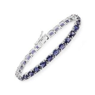 Olivia Leone Sterling Silver 11 7/8ct Iolite Bracelet