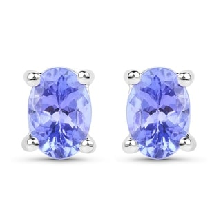 Olivia Leone Sterling Silver 1/2ct Tanzanite Earrings