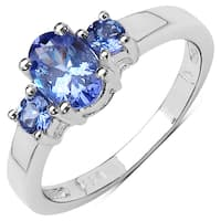 Malaika Sterling Silver 7/8ct Tanzanite Ring