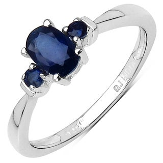 Olivia Leone Sterling Silver 5/8ct Blue Sapphire Ring